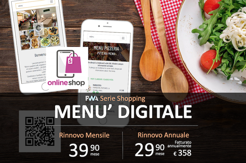 SHOP Menu digitale